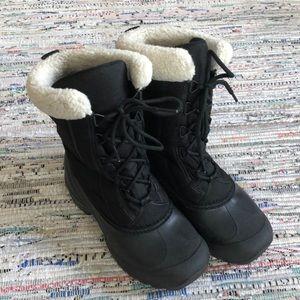 Sorel black & white winter boots